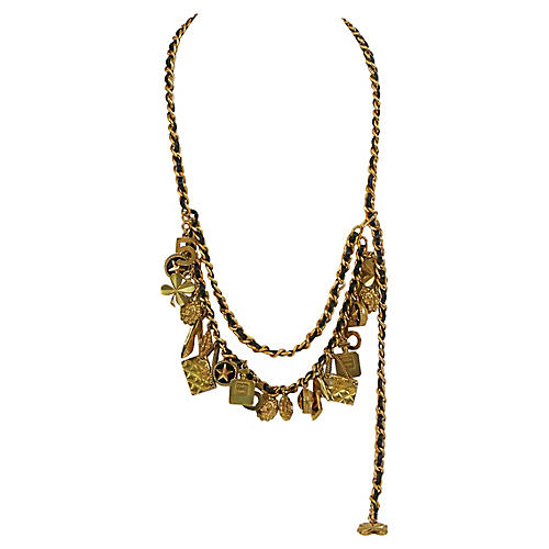 Chanel Multicharm Leather Necklace/Belt