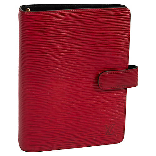 Louis Vuitton Red Leather Planner Cover