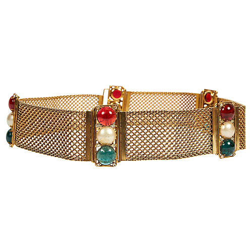Chanel Rare Gripoix 70s Mesh Belt