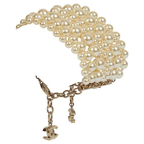 Chanel Multistrand Pearl Bracelet NIB