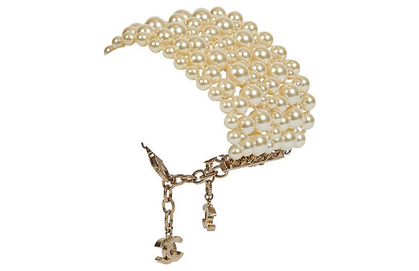 Chanel New Multistrand Pearl Bracelet
