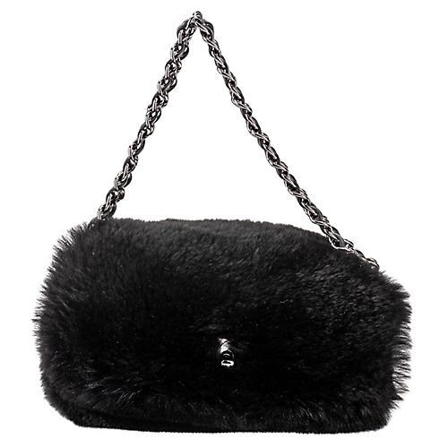 Chanel Black Mini Lapin Evening Bag