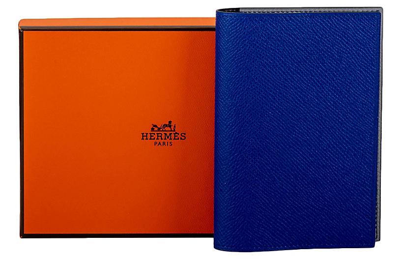 Hermes BNIB Blue Passport Cover Unisex