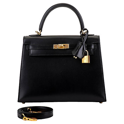 Hermès Kelly Sellier 25 cm Box/Gold
