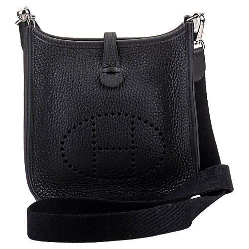 Hermès New Mini Evelyne Black Palladium