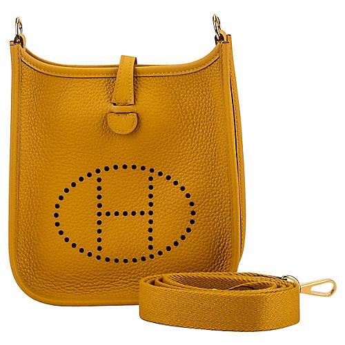 Hermès Mini Evelyne Jaune Ambre & Gold