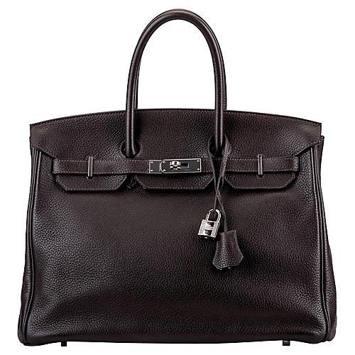 Hermès Birkin 35 Ebene Clemence