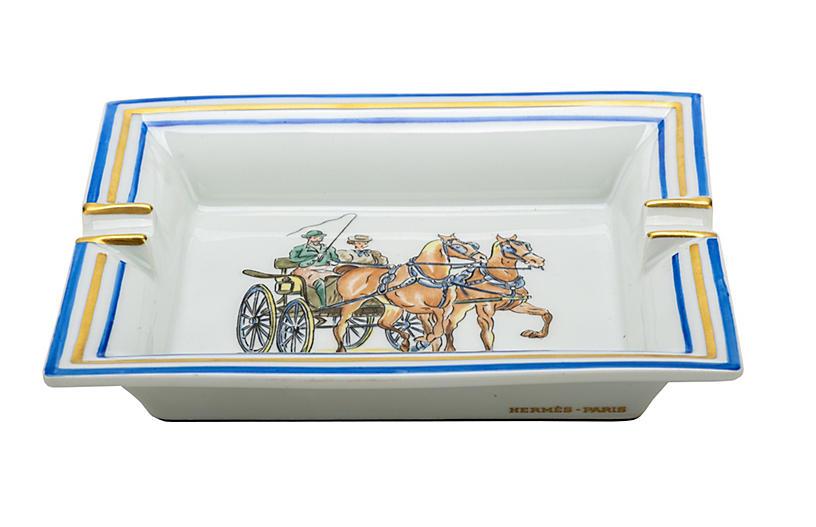 Hermès Horse Carriage Porcelain Ashtray
