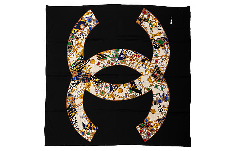 Chanel Silk Jewels Large Scarf 52