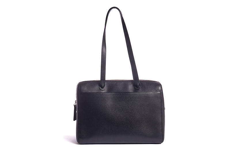Chanel Epsom Black Leather Zipped Tote