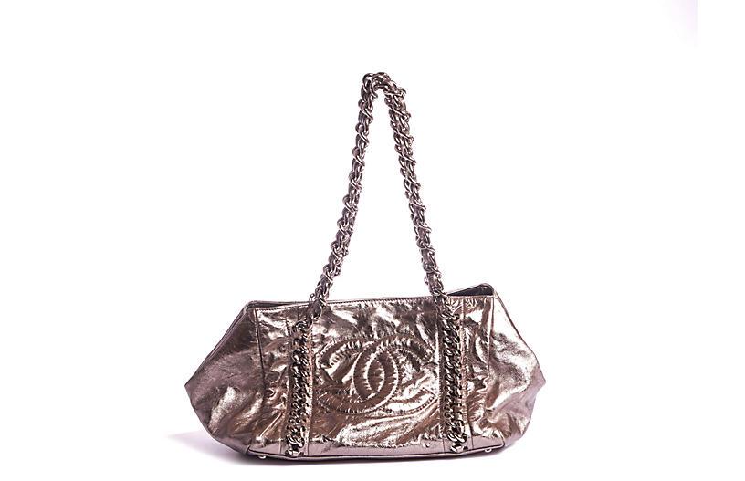 Chanel Platinum Leather Shoulder Bag