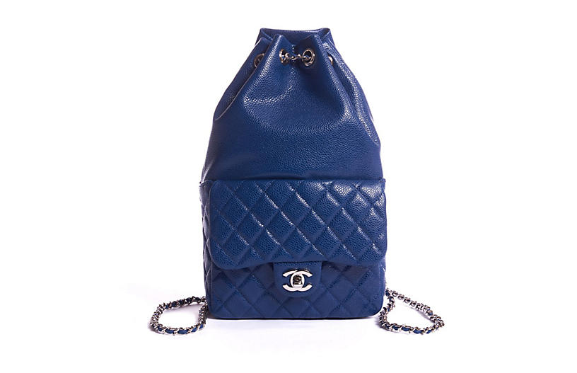 Chanel Electric Blue Caviar Backpack