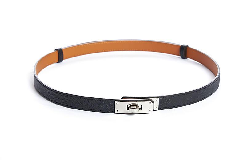 Hermès Kelly Belt Black Epsom