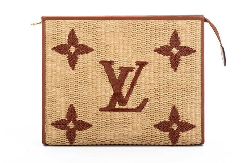 Louis Vuitton Raffia Clutch