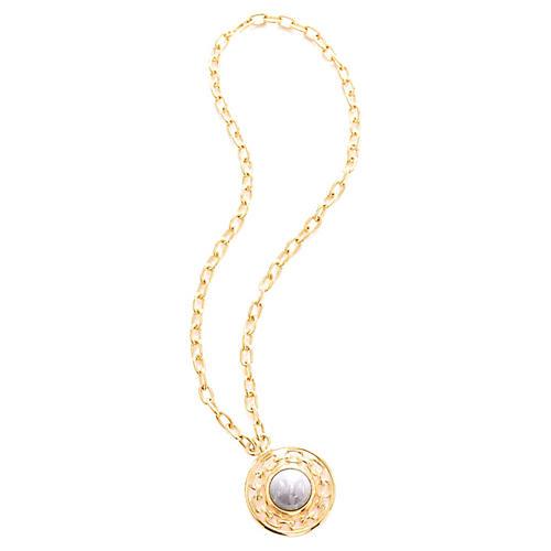 1980s Gray Pendant Necklace