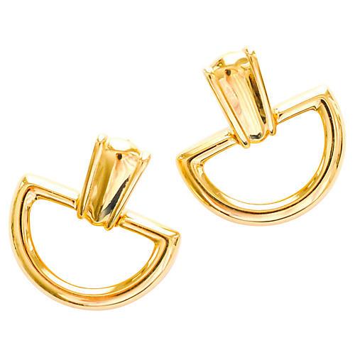 Monet Brass Earrings