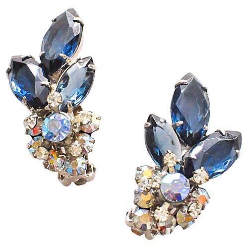 Rhinestone Crawler Earrings
