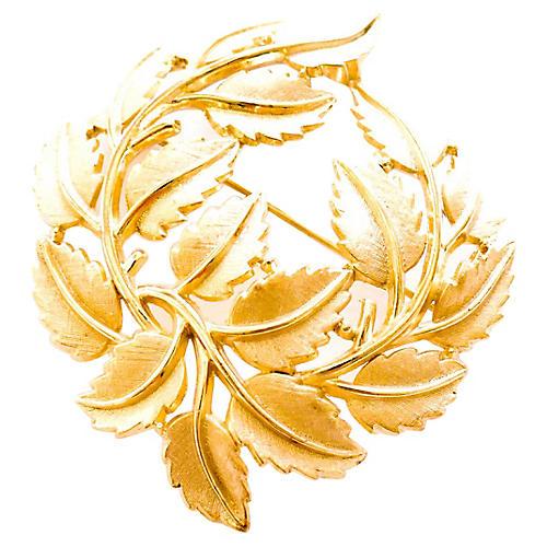 Leaf Swirl Brooch