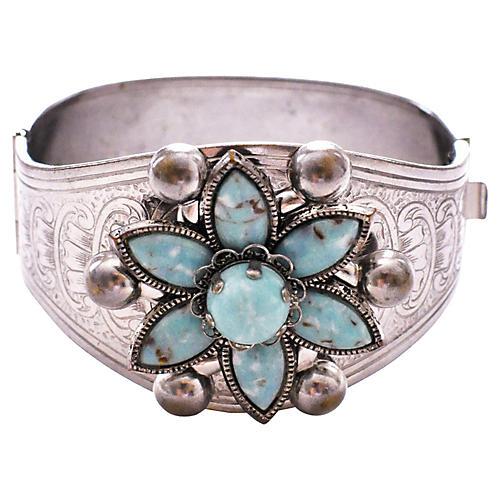 1960s Faux-Turquoise Bracelet