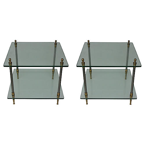 Two-Tier Side Tables, S/2