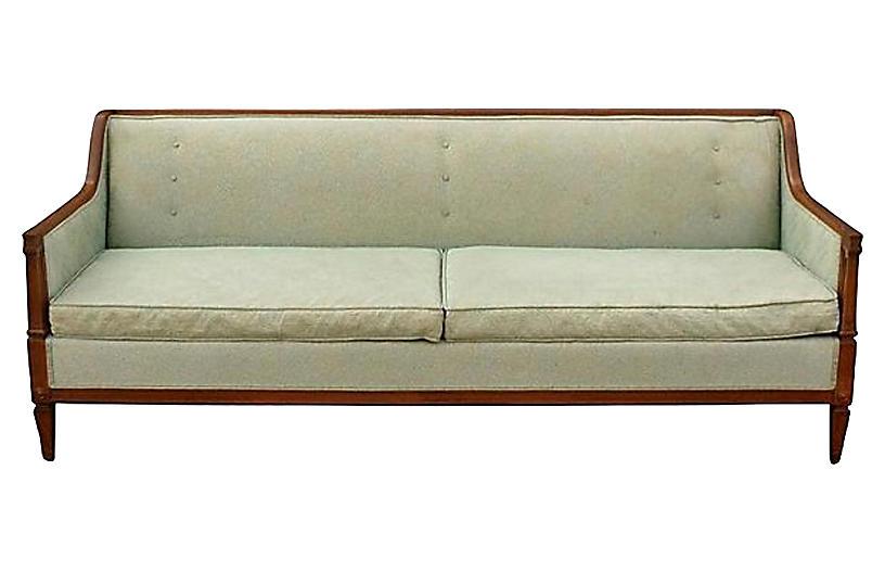 Regency-Style Sofa w/ Columned Details