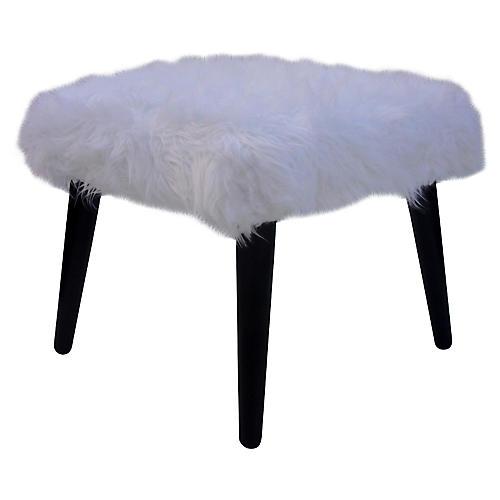 Faux-Fur Bench