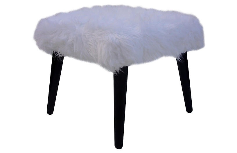 Faux-Fur Bench