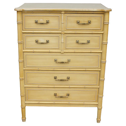 1960s Bali Hai Tall Chest of Drawers