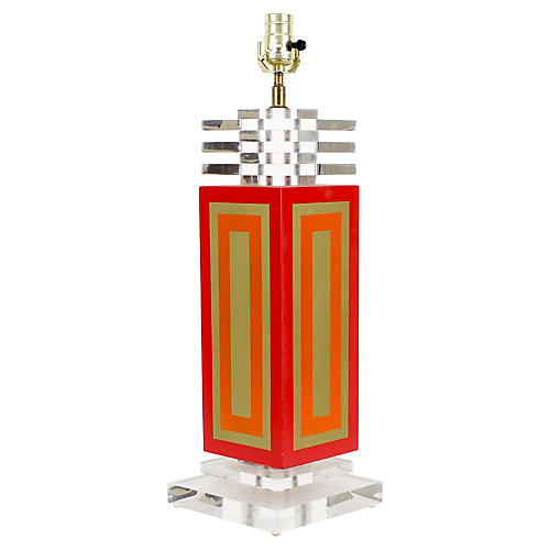 1970s Lucite Table Lamp