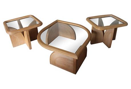 Gabriella Crespi-Style Tables, S/3