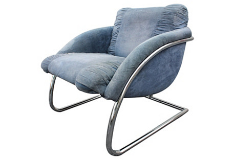 Cantilevered Chrome Chair