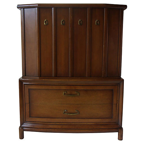 Midcentury Walnut Highboy Dresser