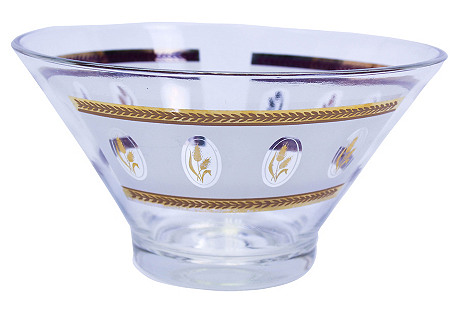 George Briard Gilded Gold Glass Bowl
