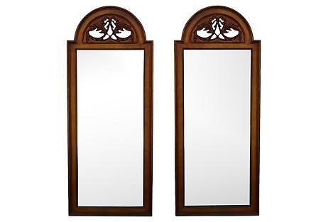 Midcentury Mirrors, Pair
