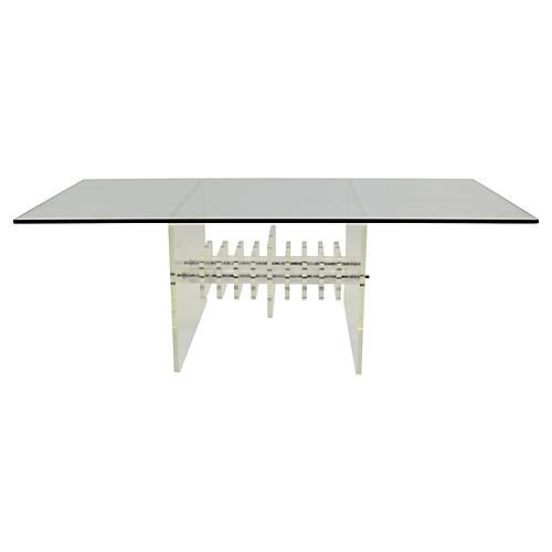 Sculptural Lucite Table