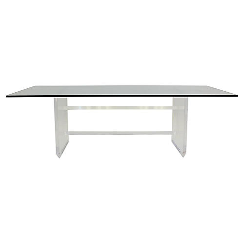 Rectangular Lucite Coffee Table