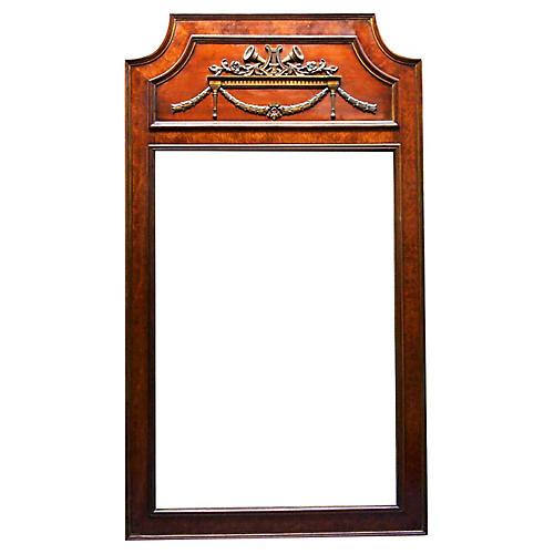 Mid-Century Walnut Burlwood Mirror