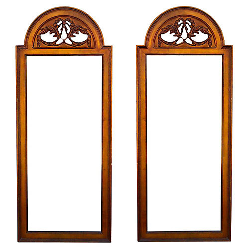 Mid-Century Pair of Gilded Mirrors