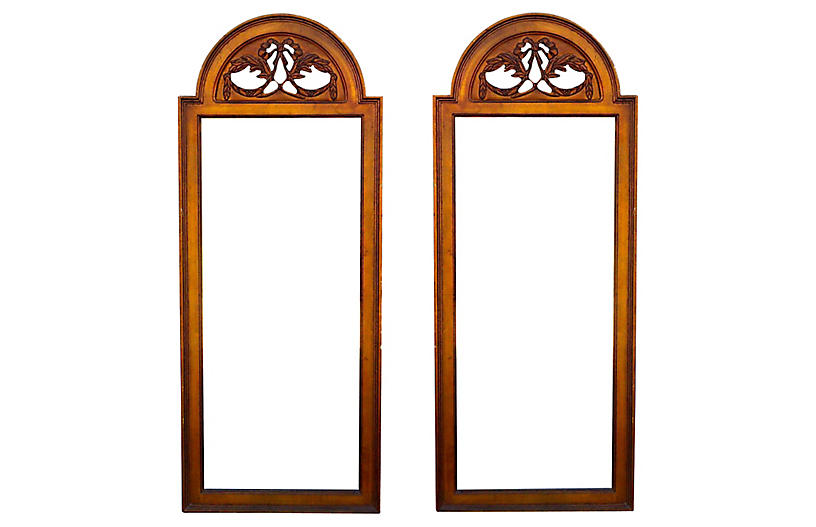 Mid-Century Pair of Gilded Mirrors