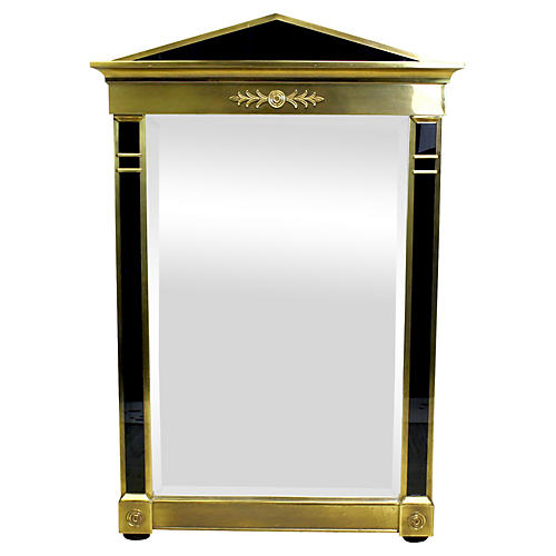 Brass Mastercraft Empired Style Mirror