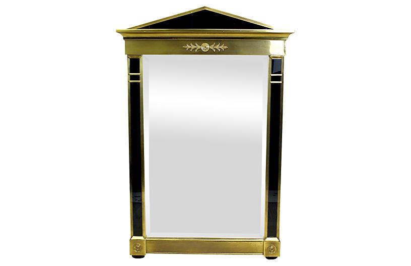 Brass Mastercraft Empired Style Mirror