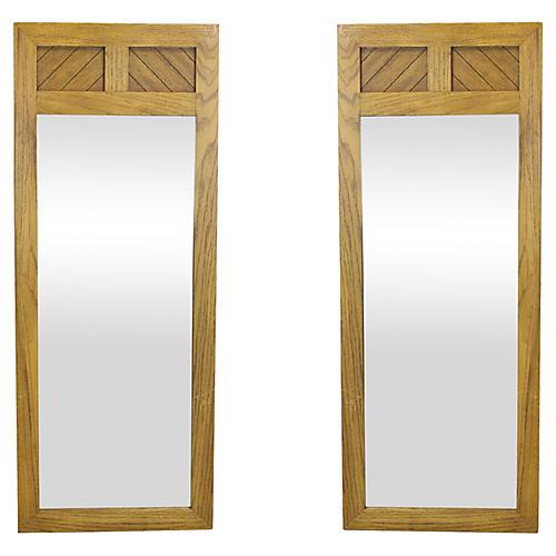 Midcentury Modern Walnut Mirror