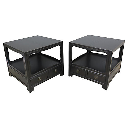 Midcentury Baker Nightstands, Pair
