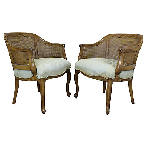 French-Style Chairs, Pair