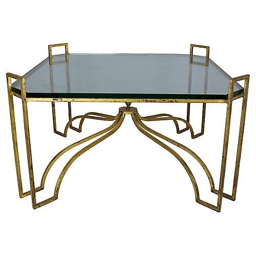 Hollywood Regency Gilded Coffee Table