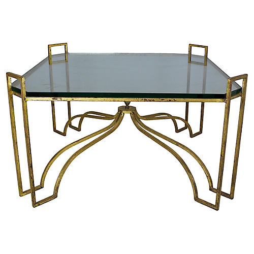 Hollywood Regency Gilded Coffee Table