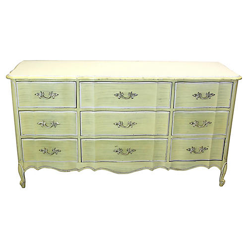 Midcentury Canary Yellow Dresser