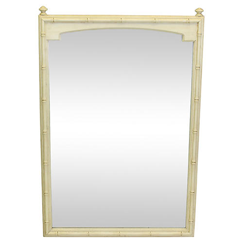 Midcentury Faux-Bamboo Mirror