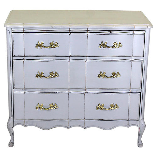 Midcentury Provincial 3-Drawer Commode