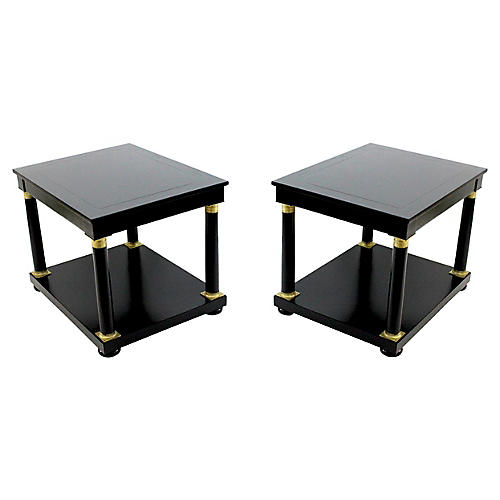 Empire-Style Baker Side Tables, Pair